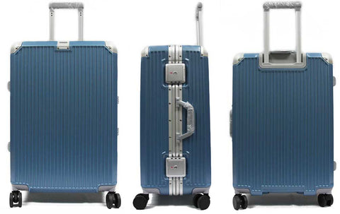 Elegant Polycarbonate Aluminium Frame Luggage with 8 Spinner Wheels Safe Skies TSA Lock - Luggage Outlet