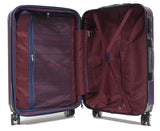 Tenacious ABS Expandable Anti-Theft Luggage with 8 Spinner Wheels and TSA Lock