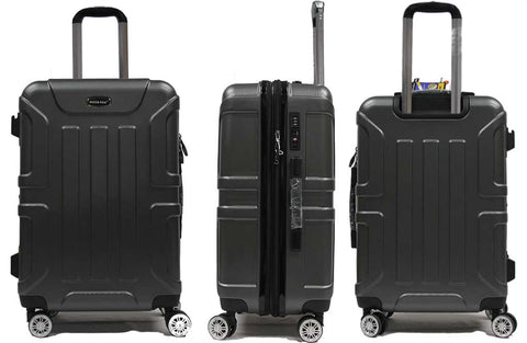 Radiant Polycarbonate Expandable Luggage with Anti-theft Zippers 8 Spinner Wheels and Recessed TSA Lock - Luggage Outlet