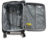 Superior Softside Expandable Luggage with 4 Spinner Wheels TSA Lock