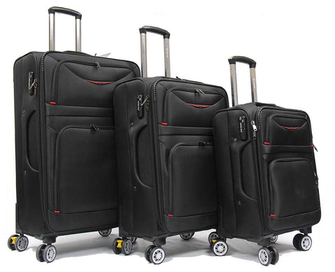 Superior Softside Expandable Luggage with Double Casters and TSA Lock - Luggage Outlet
