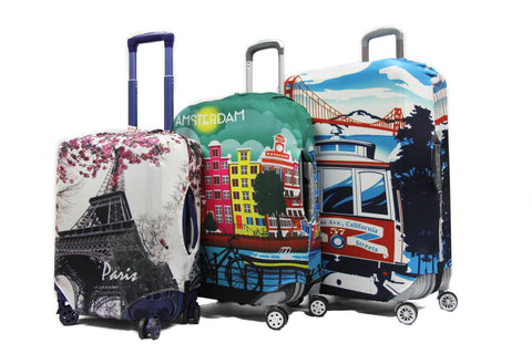 Vivid Washable Elastic Luggage Cover - Luggage Outlet Singapore - 1