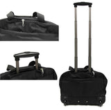 Professional Rolling Laptop Trolley Briefcase Black - Luggage Outlet Singapore - 3