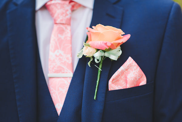 NEW Dusty Rose Blush Pink Peach Color Men/'s Wedding Business Tie  USA SELLER
