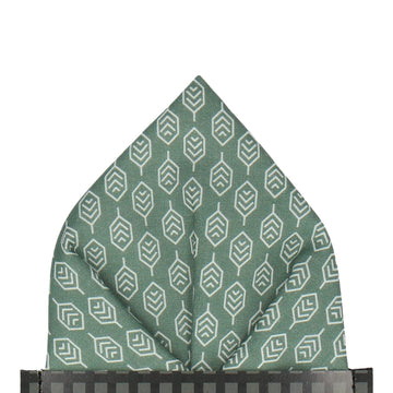 Hadley in Forest Green Pocket Square (Outlet)