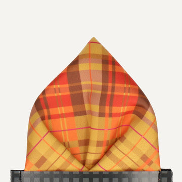 Broughton in Orange Pocket Square (Outlet)