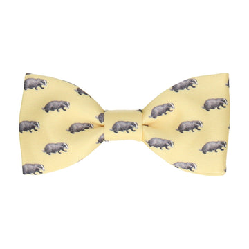 Lemon Yellow Badgers Bow Tie