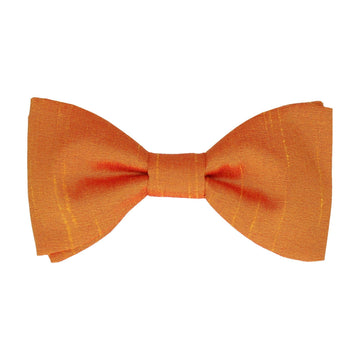 Faux Silk Sunset Yellow Bow Tie
