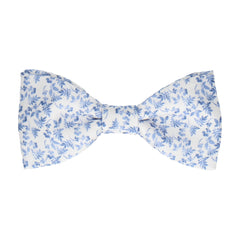 Nostell White & Blue Bow Tie