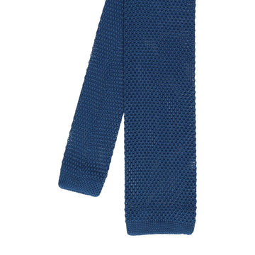 Knitted Tie in Navy Blue