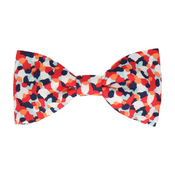 Red Confetti Liberty Cotton Bow Tie