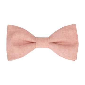 Cotton Salmon Marl Pink Bow Tie
