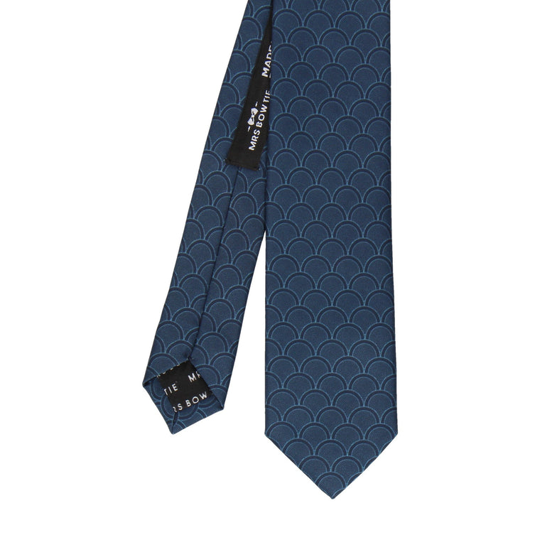 Navy Blue Wedding Fans Tie