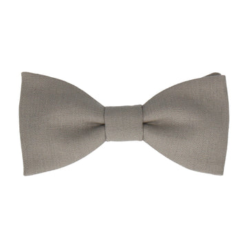 Storm Grey Brushed Linen Bow Tie