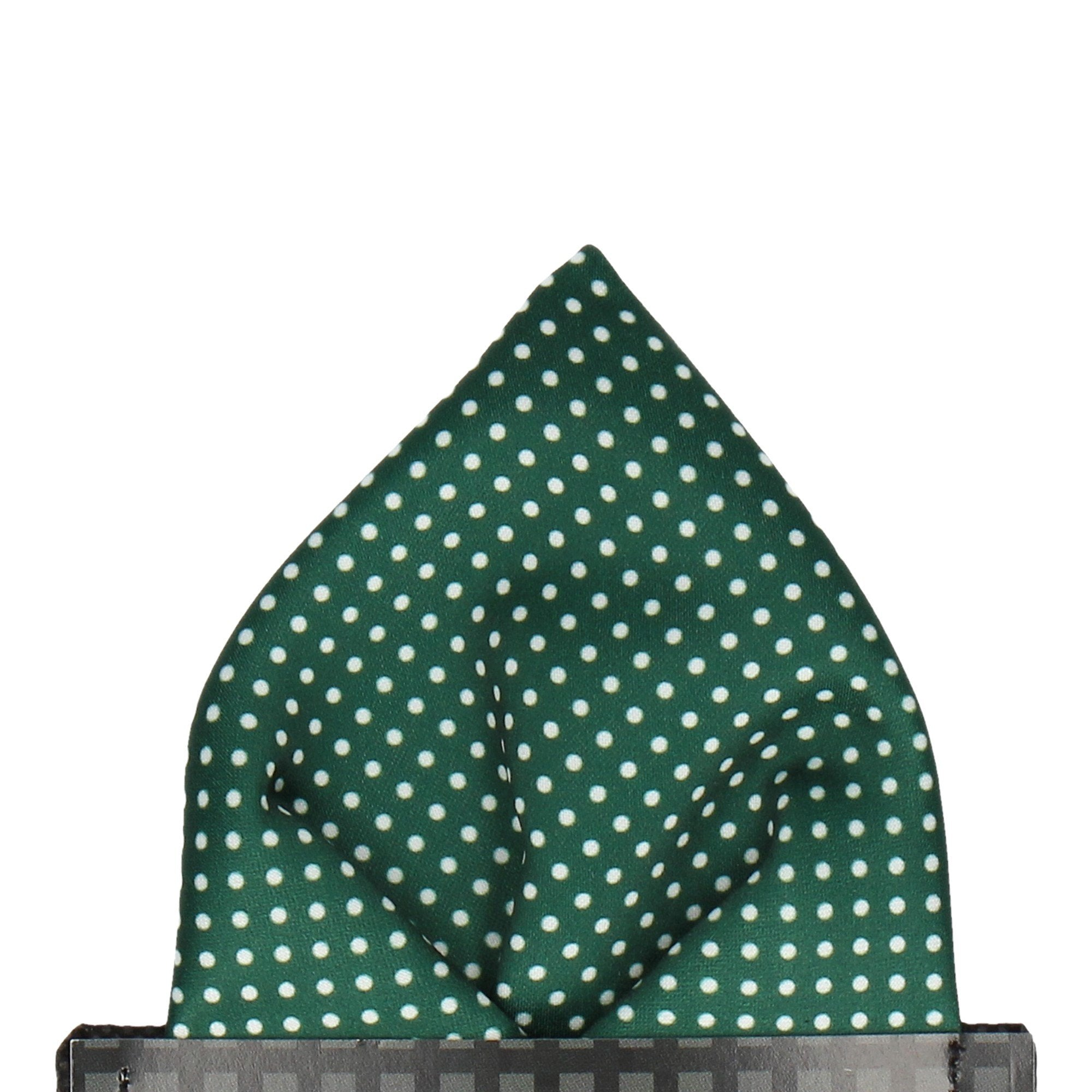 Pin Dots in Dark Green Pocket Square