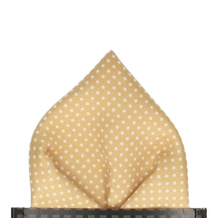 Pin Dots in Pure Gold Pocket Square