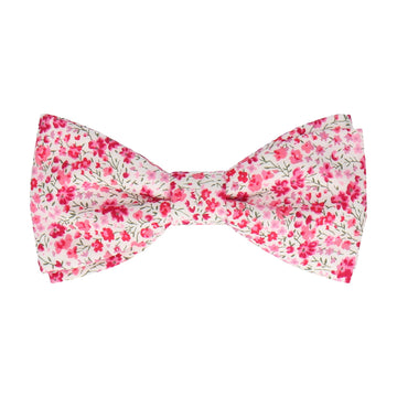 Busy Pink Floral Liberty Cotton Phoebe Bow Tie