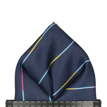 Boston in Navy Blue Pocket Square
