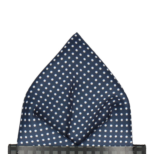 a61af4ac44dba Pin Dots in Navy Blue Pocket Square