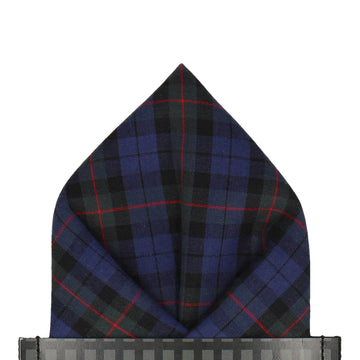Navy Blue Armstrong Tartan Pocket Square