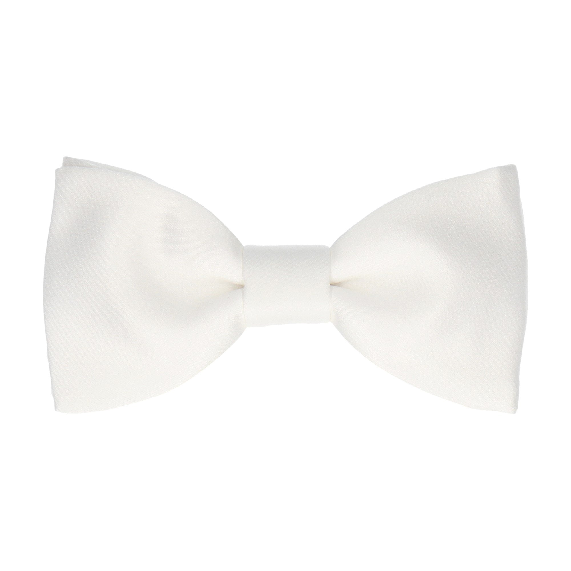 Satin in White Bow Tie