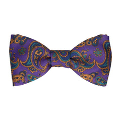 Patel Purple Paisley Bow Tie