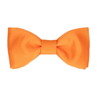 Plain Solid Orange Bow Tie