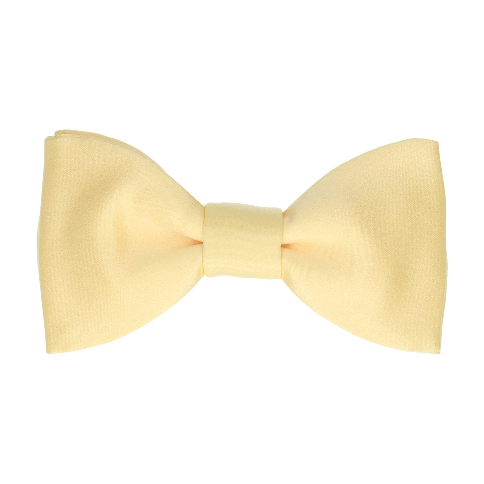 Satin in Pastel Yellow Bow Tie