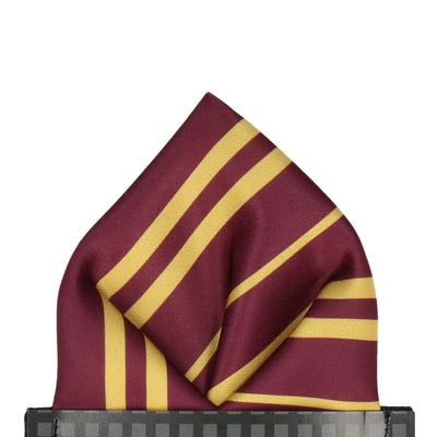 Red & Gold Stripe House Pocket Square