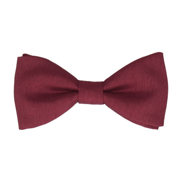 Ruby Red Faux Silk Bow Tie
