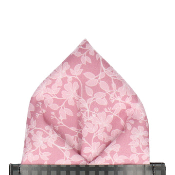 Irving in Dusky Rose Pocket Square