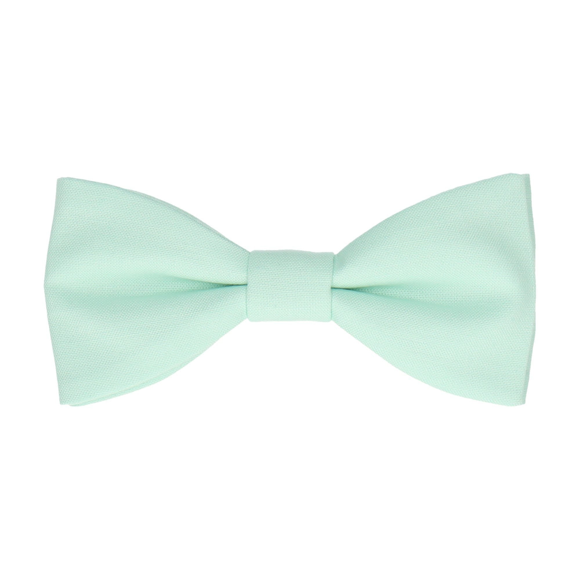 Cotton Seafoam Green Bow Tie