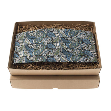 Teal Traditional Paisley Cummerbund