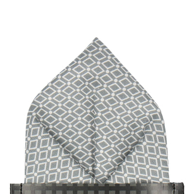 Diamond Grey Pattern Cotton Pocket Square