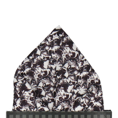 Monochrome Alba Liberty Cotton Pocket Square