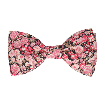 Pink Floral Chive Liberty Cotton Bow Tie