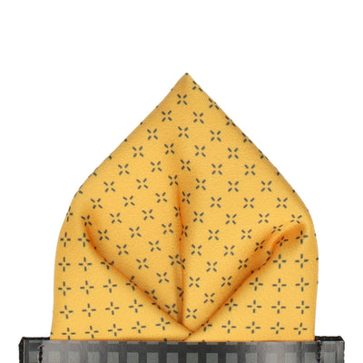 Glasbury in Yellow Pocket Square