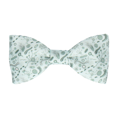Bacteria Green & White Bow Tie
