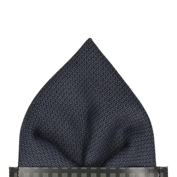 Textured Smart Navy Blue Pocket Square