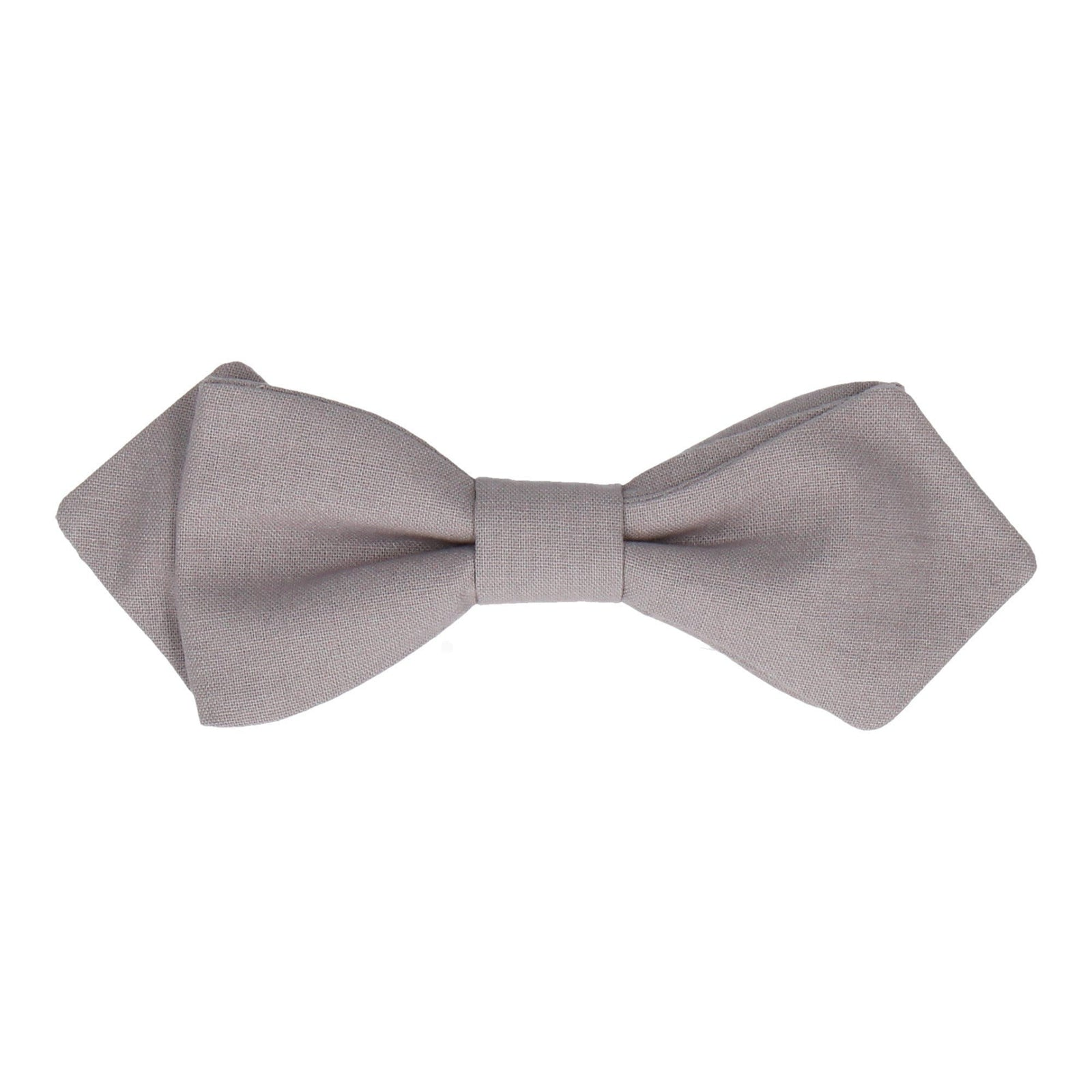 Cotton Light Grey Bow Tie