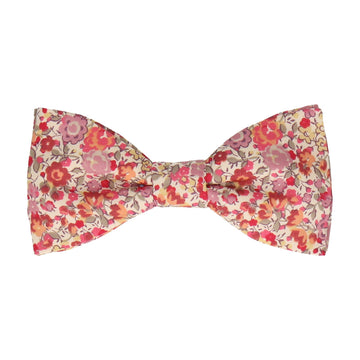 Pink Floral Emma & Georgina Liberty Cotton Bow Tie