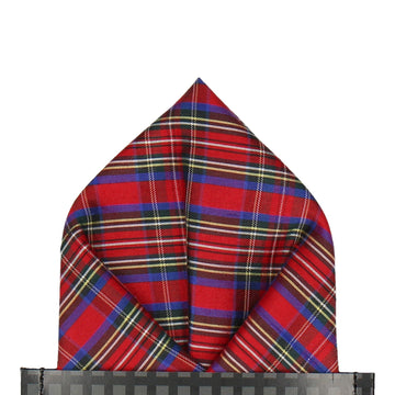 Mini Stewart Royal Tartan Pocket Square