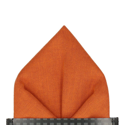 Cotton Burnt Orange Pocket Square
