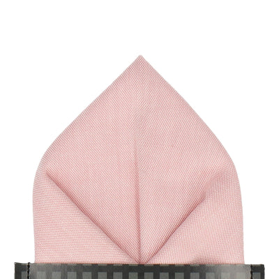 Cotton in Pink Chambray Pocket Square