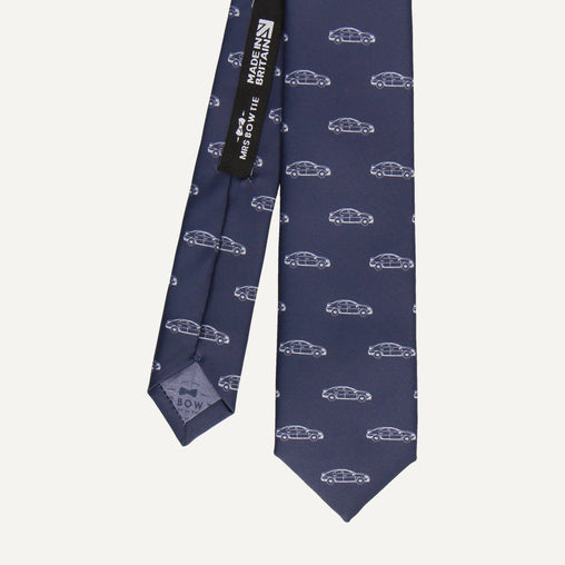 Cars in Navy Blue Tie