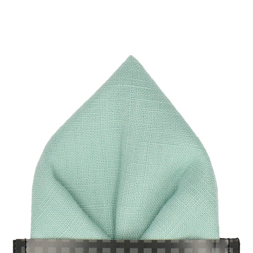 Linen in Pale Mint Pocket Square
