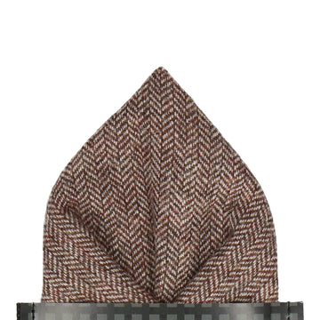 Faux Tweed Brown Pocket Square