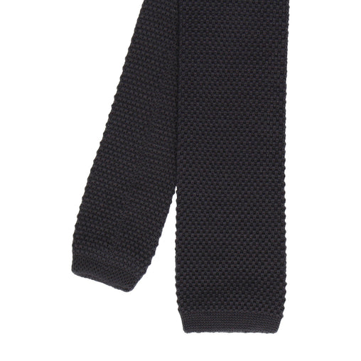 Knitted Tie in Charcoal