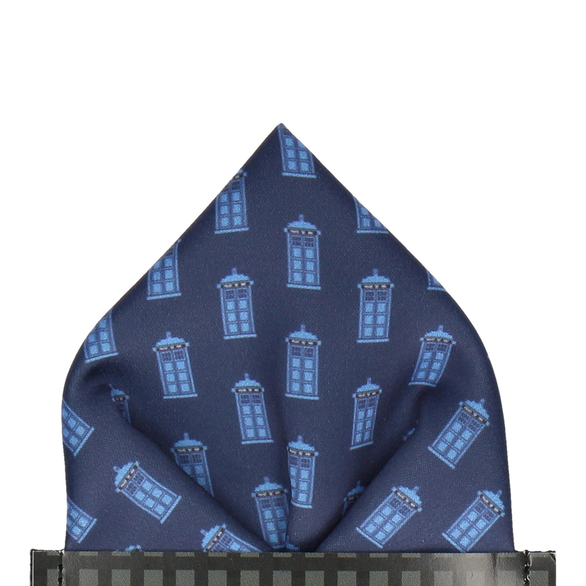 Police Box in Navy Pocket Square