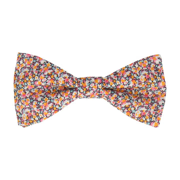 Orange Ditsy Floral Pepper Liberty Cotton Bow Tie